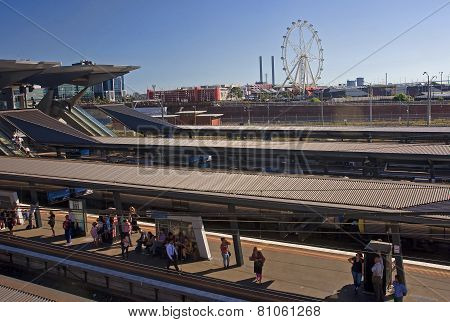 Melbourne, Australia - January 12, 2015: The Train Station In Me
