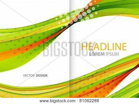 Abstract color lines background. Template brochure design