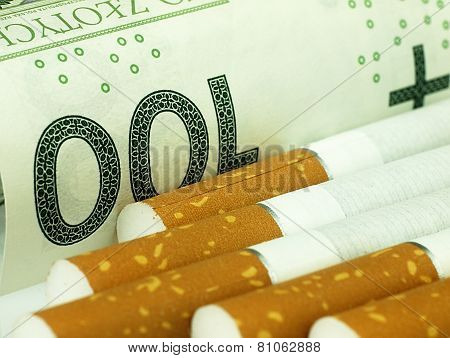 Cigarettes And Money. Expensive Habit.