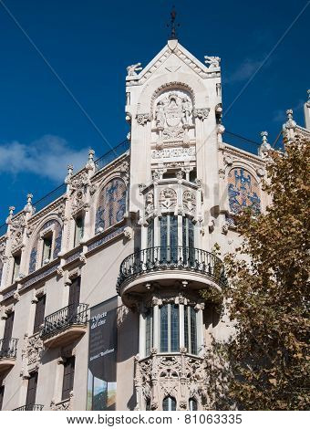 Gran Hotel art nouveau building in Palma
