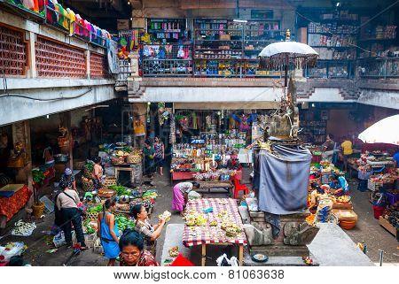 Local Market In Ubud, Bali, Indonesia