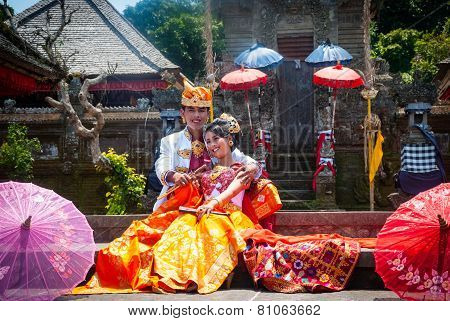 Traditional Indonesian Wedding, Just Married Couple