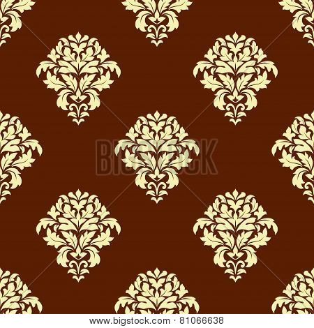 Seamless baroque styled foliage pattern