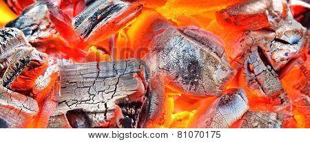 Burning Charcoal Background