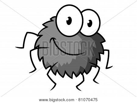 Cartoon cute gray little spider character