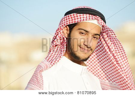 Positive Middle eastern young guy