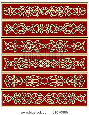 Floral traditional celtic knot ornaments