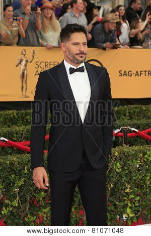 LOS ANGELES - JAN 25:  Joe Manganiello at the 2015 Screen Actor Guild Awards at the Shrine Auditorium on January 25, 2015 in Los Angeles, CA