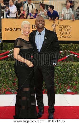 LOS ANGELES - JAN 25:  Terry Crews at the 2015 Screen Actor Guild Awards at the Shrine Auditorium on January 25, 2015 in Los Angeles, CA