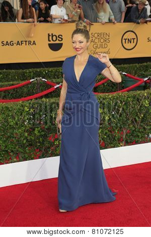 LOS ANGELES - JAN 25:  Rebecca Gayheart at the 2015 Screen Actor Guild Awards at the Shrine Auditorium on January 25, 2015 in Los Angeles, CA