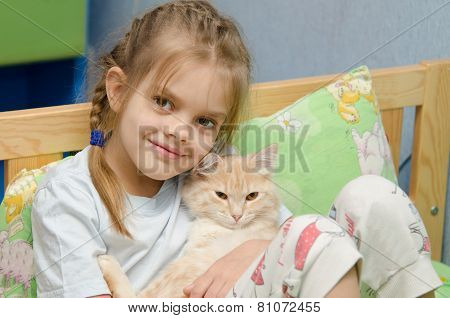 Portrait Of The Girl With A Cat
