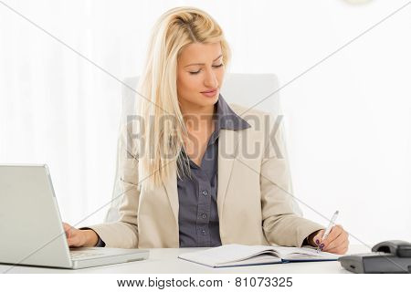 Left-handed Businesswoman