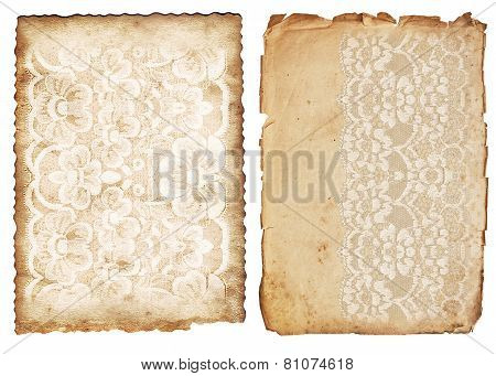Vintage Backgrounds With Lace