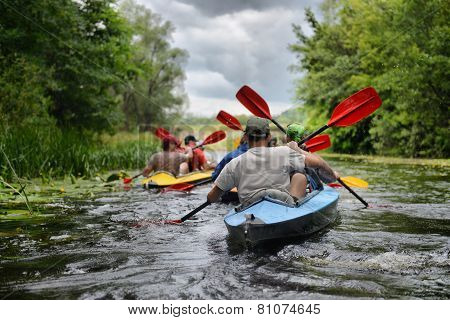 River, Sula, 2014 Ukraine, June14 ; River Rafting Kayaking Editorial Photo; River, Sula, 2014 Ukrain