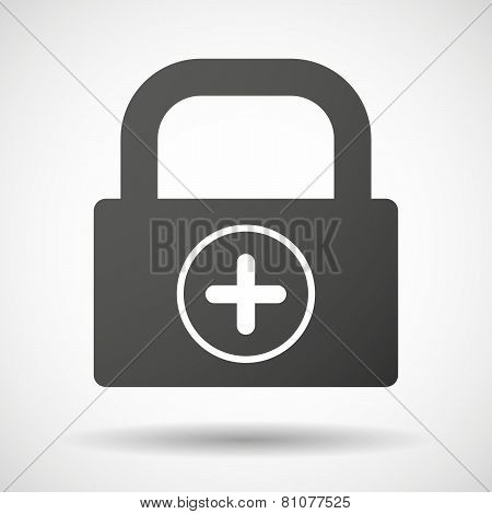 Lock Icon With A Sum Sign