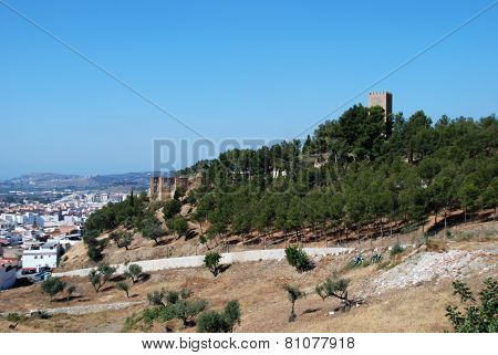 Arab castle on the edge of Velez Malaga.