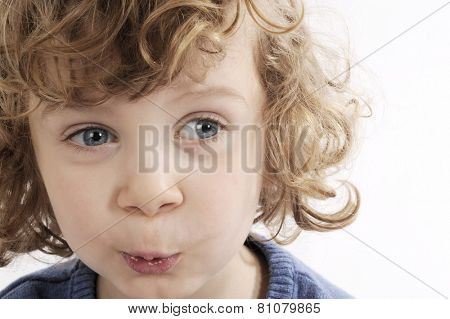 little boy face with expression