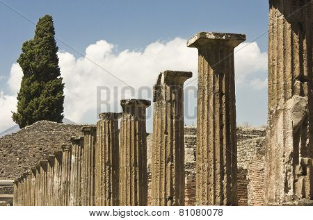 View Of The Famous Ancient Roman Town Ruins