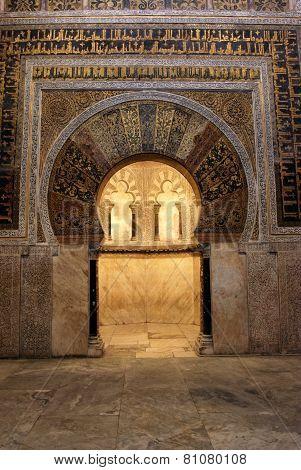 Mihrab in the Mezquita, Cordoba.