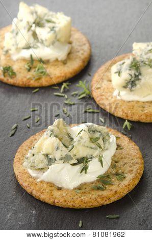 Cracker With Organic Stilton Cheese