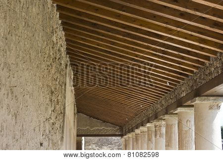 Stabian Thermal Baths Complex roofing detail