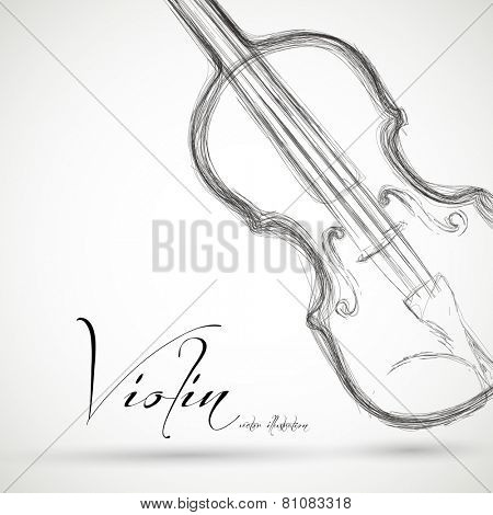 Music Violin design over background, easy editable