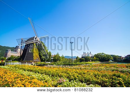 Windmill At Huis Ten Bosch, Japan