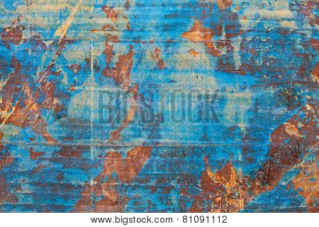 Old wood blue texture