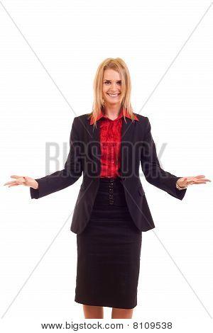 Business-Frau lächelnd