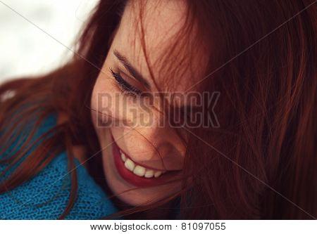 Smiling Beautiful Woman Having Fun