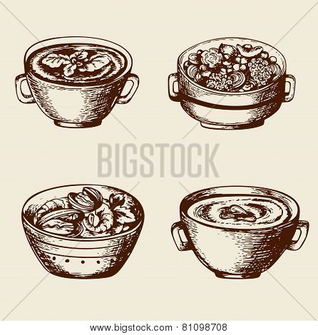 Soup From Seafood And Vegetables