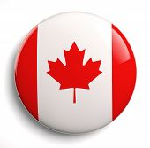 foto of lapel  - Canada flag icon isolated on white - JPG