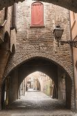 pic of ferrara  - Ferrara (Emilia-Romagna Italy): typical street in the medieval quarter