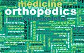 stock photo of orthopedic surgery  - Orthopedics or Orthopaedics Medical Field Specialty As Art - JPG