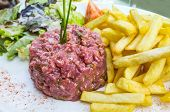 foto of tatar  - tasty Steak tartare  - JPG