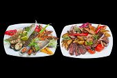 picture of bass fish  - Mixed grill - JPG