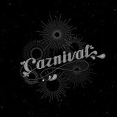 foto of starburst  - vector typographical illustration with ornate word carnival and light rays - JPG