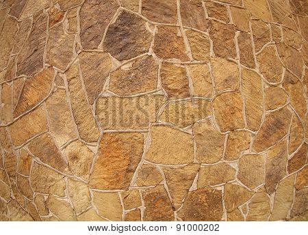 Wall Of Large Stones Of Irregular Shape