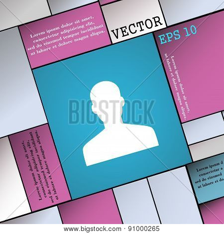 User, Person, Log In  Icon Sign. Modern Flat Style For Your Design. Vector