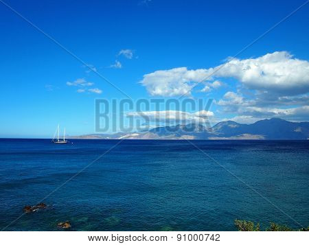 Greece, Crete - A View Of The Gulf Of Mirabello.