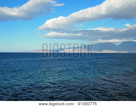 Greece, Crete - A View Of The Buy Of Mirabello.