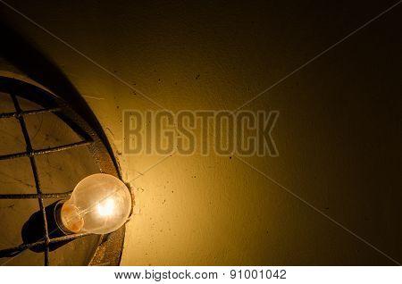 lamp in the dark