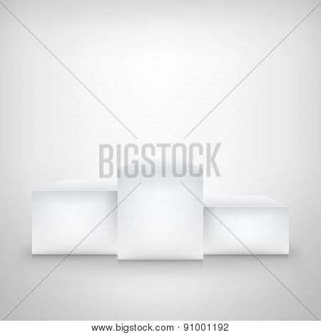 Celebration Background Template With Pedestal