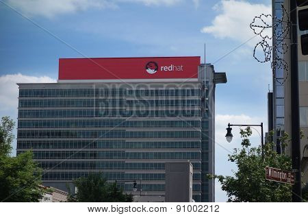 Raleigh,nc/usa - 10-14-2015: Red Hat Headquarters Building In Downtown Raleigh, Nc