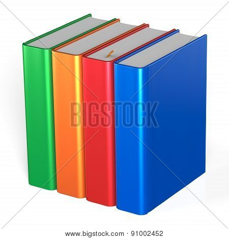 Blank Books Four Textbooks Bookshelf Educational Icon