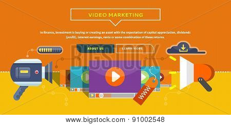 Video Marketing. Concept for Banner, Presentation