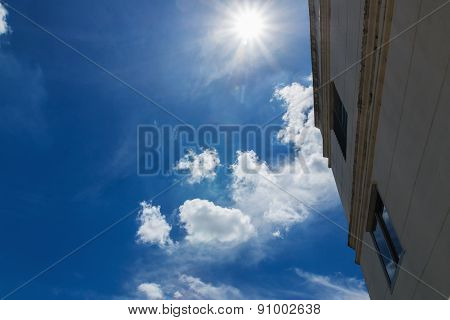 Building  With Sky Cloud