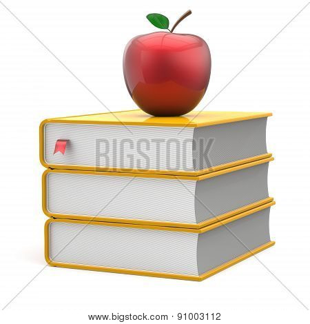 Books Apple Yellow Red Index Textbooks Stack Education Icon
