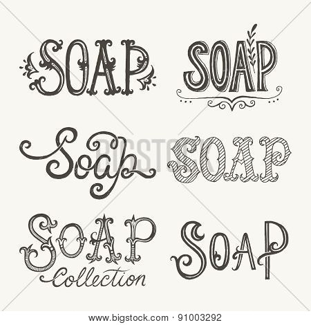 Soap Lettering