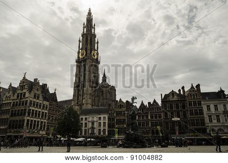 Antwerp city view